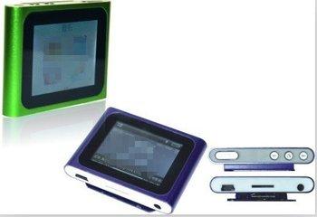 "Freeshipping Hot Sale 1.8"" LCD 6th clip Digita MP3 MP4 Player Video FM Radio E-Book Gift For 2GB 4GB 8GB 16GB SD TF memory Card"