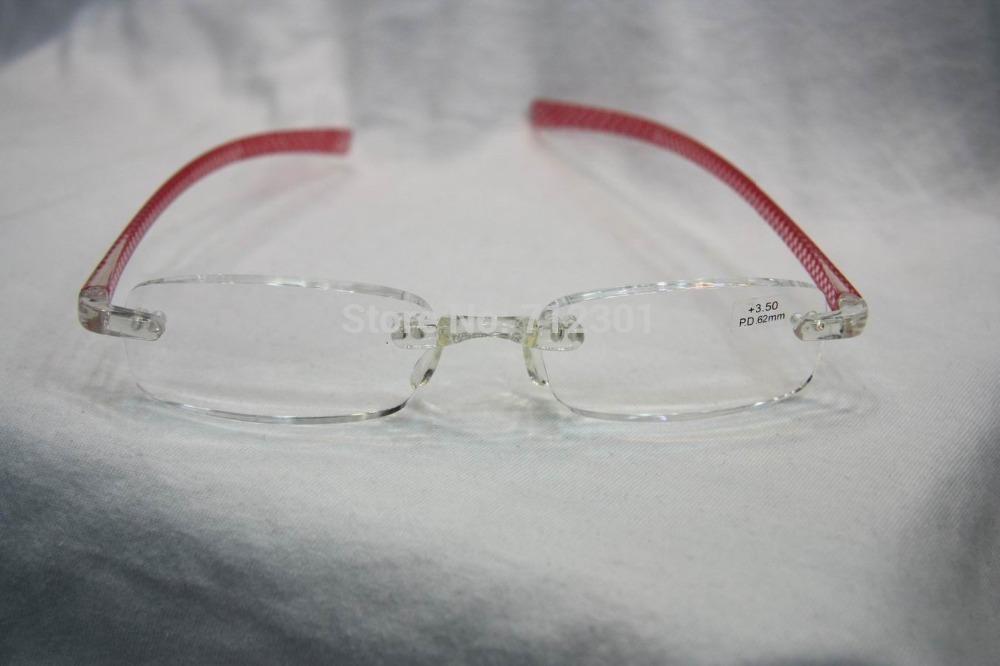 Unbreakable Plastic Eyeglass Frames : TR90-Mini-Unbreakable-Reading-Glasses-Flexible-Rimless ...