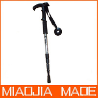 Free shipping for DHL 60pcs/lot Factory Price Four Joint T-shape Alpenstock Walking Sticks Hiking Pole Alpenstock Best Sale