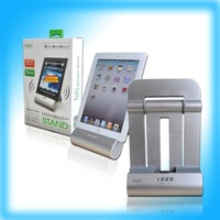 Free Shipping!!!IPEGA Audio Foldable Charger speaker Stand for iPad/iPad2/iPhone3G 4G in silver color,PG-IP082