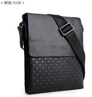 High Quality men shoulder bag  leather messenger business bag Black Color Free SHIPPING MB08