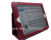 10 colors universal stand lychee stria leather case for apple ipad 3  2,60pcs/lot,Fedex DHL free shipping,C0016