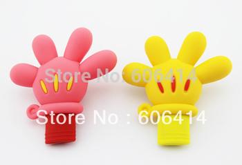 Real 2GB/4GB/8GB/16GB/32GB/64gb USB Flash Drive Thumb Stick Pen Drive Cartoon Mickey hand Drop Shipping+free shipping