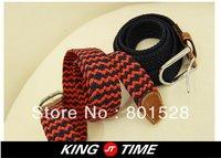 KINGTIME Free Shipping Hot Sell  Man 's Weaving Belt Fashionable Men's Belt  DPD235
