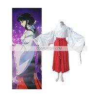 Hot sale Custom made  InuYasha Kikyo Cosplay Costume  (free shipping)