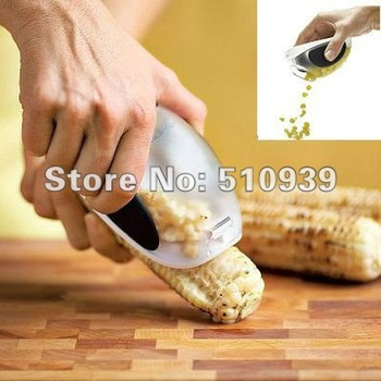 Brand New Kitchen Cooking Corn Peeler Stripper Shaver Knife Kernels Cob Remover Cutter 10pcs/lot free shipping Wholesales!