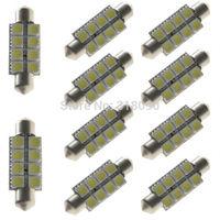Super Bright!! 10Pieces  White 5050 8 LED 41mm Festoon Dome LED Light Bulbs car light 8 SMD Indicator Light Break Light Parking