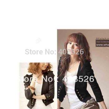 2014 NEW elegant fashion design OL suit style long sleeve ladies short jacket small coat, ladies blazer 5641