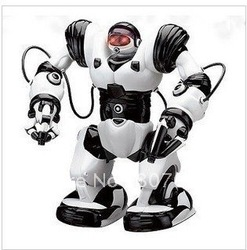 roboactor second version remote control rc robot toy humanoid infrared robot+sound active+52 actions hot sale(China (Mainland))