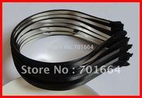 BARGAIN for BULK 5mm black satin ribbon single covered plain metal hair headbands Free shipping