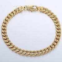 Customized 6MM Wide HAMMERED CURB Cuban Bracelet Gold Filled Bracelet MENS BOYS Chain Bracelet GF Wholesale Jewelry GB59