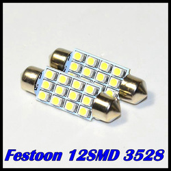 Free Shipping 10pcs/lot 31mm 36 mm 39mm 41mm 12 SMD 3528/1210 LED Super White Festoon Dome 12 LED Car Light Bulb Lamp LED Light(China (Mainland))