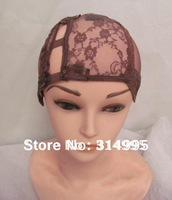 Brown left  side part Instock wholesale price adjustable u part wig making caps/u part wig cap