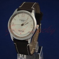 2012 Popular Design 100%Quartz Official Eyki Fashion Mens Leather band new design Quartz Wrist watch W8533G-BR
