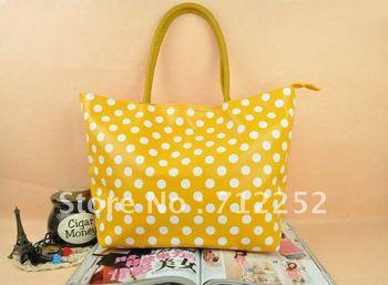 DHL Free Shipping 2PCS/LOT 2012 Newest Korea Stylish Women Bag handbags Candy Colors Shoulder Bag With Dot Tote Bag 120712#1