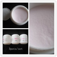 Wholesale White/Pink/Clear 3 Colour 20g/Pot Acrylic Powder for 3D Nail /French Manicure Nail Art Tips + Free Shipping #JT03
