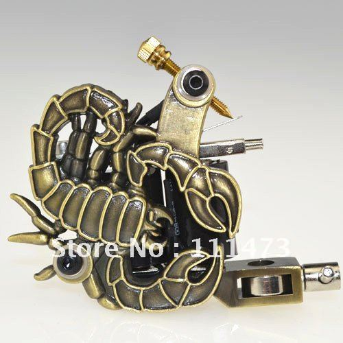 New Empaistic Tattoo Machines 8 warps coils Liner Shader Gun Scorpions M51(China (Mainland))