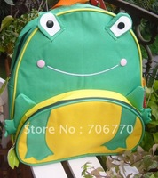 "NEW Wholesale  LOTS Schoolbag for Children Gredn Frog Stylish Backpack 12"" size FREE SHIPPING"