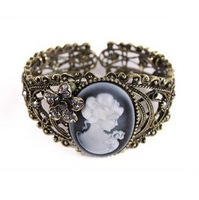 Free shipping ++ fashion Charm  jewelry Bracelet ,hollow out  grave head portrait  bracelet/bangle vintage  jewelry