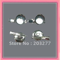 Free shipping!!100pcs/lot  2.3cm metal circle with aligator clip and brooch pin