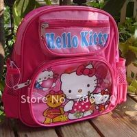 NEW Wholesale  Small Backpacks Hello Kitty dark pink 3 zippers stylish for Children toddler girls#011