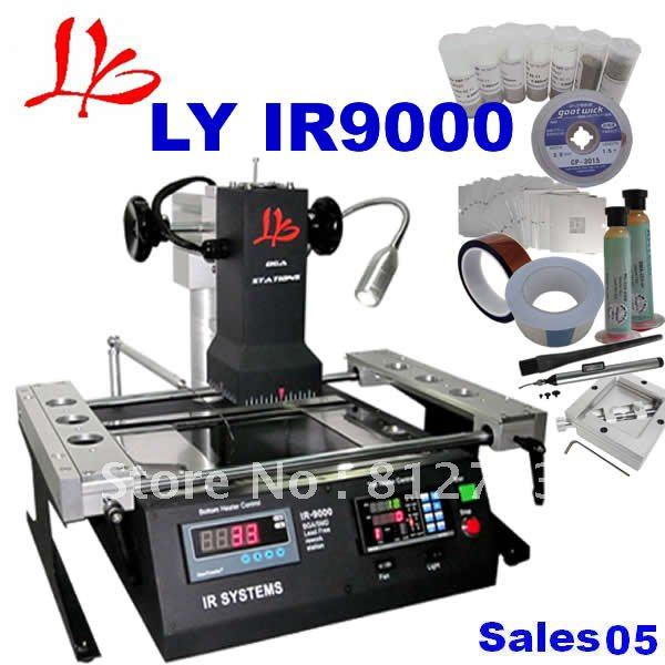 Hot Sale Official Agent LY BGA ly IR9000 Infrared BGA Rework Station up dated from ir6000 220V(China (Mainland))
