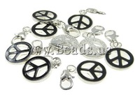 Free Shipping Black Zinc Alloy Enamel Pendant for Boy