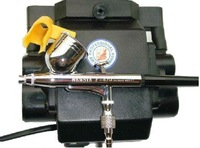 YEHONG Airbrush & Compressor System F-470, High-Performance, Non-Cylinder Design