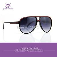 Queen College with case Brand New Retro Aviator sunglasses men Fashion Popular line decoration glasses UV400 CE QC0062