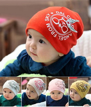 New style free shipping fashion cotton baby hat baby bike hats skull cap  infant caps headwear beanie