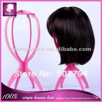 Pink color Plastic wig holder /wig stand