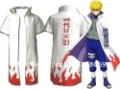 Japan Anime Cosplay Costume Naruto Namikaze Minato Yondaime the 4th Hokage Men's Robe Cloak Robe White  Halloween Short Sleeve