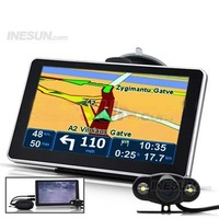 7 Inch Touchscreen GPS Navigator  Bluetooth Wireless Rear View Camera Free 2GB Micro SD Card