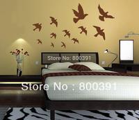 1PCS Free shipping Birds wall sticker, Removable wall stickers, pigeons PVC Home Decoration decor sticker Wallpaper JM 7033