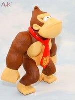"6""  PVC Super Mario Luigi donkey kong diddy kong L Action Figures youshi mario Gift OPP retail"