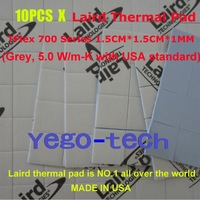 Free Shipping + Best Quality 5.0 W/m-K, Thermal Pad 1.5CM*1.5CM*1MM, Laird Tflex 700 Series Gap Filler Material