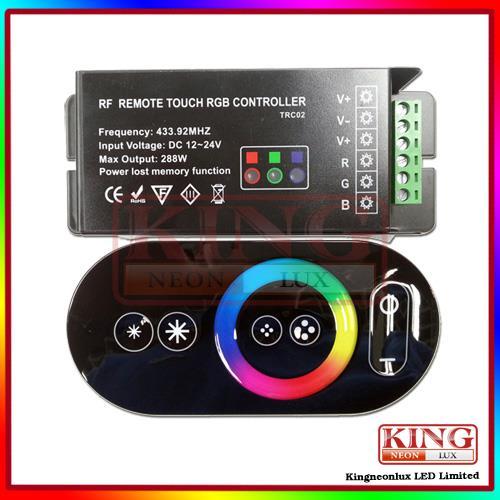Magie dreamcolor rgb-led-controller, farbrad ring fernbedienung, rgb led streifen touch rf-controller, 24v/12v, versandkostenfrei