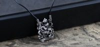 Hot Selling Alloy Punk Gothic House Phiarlan Pendant Vintage Necklace  Min Order $15 (can mix order)