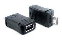 400PCS/Lot free shipping  USB Micro Male to Mini 5 pin USB Female Adapter Converter