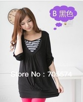 Hot wholesale Free shipping Fashion design superior soft and comfortable long sleeve maternity tops