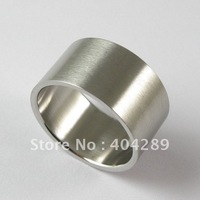 Wholesale 12Pcs 12MM Top Quality 316L Flat  Wide Wire Surface Stainless Steel Rings  (SSR013)