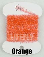 Orange Color,  20 Cards Ice Cactus Chenille, Fly Tying, Jig, Lure Making, Fishing