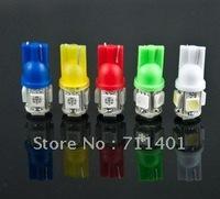 Free shipping factory  wholesale good quality 100pcs/lot car LED Lamp T10 5050  5 SMD 5 LED White Light Bulbs