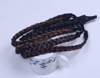 Free Shipping Women Hair Accessories Headbands Wholesale 12mm width Black Elastic Head bands Neat Wig Braid Headbands