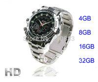 Drop Ship Waterproof 1080p HD Hidden Camera IR Infrared Night Vision Watch DVR Video 4GB 8gb 16gb 32gb  wrist watch