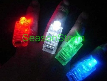[CPA Free Shipping] Wholesale LED Finger Light / Laser Finger / Beams Ring Torch For Party (SX-36)