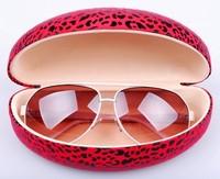 Glasses case, Large sunglasses case,fashion leopard print sunglasses box ,free shipping Retail accessories