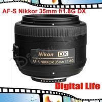 Nikon 35 1.8G Lenses Dslr AF-S Nikkor 35mm f/1.8G DX Lens for D3000 D3100 D3200 D5000 D5100 D5200 D90 D7000 D7100 D300 D300s