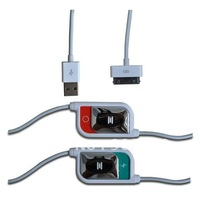 USB Data Charging Converter Cable For iPhone 4S iPad 2 iPod Free Shipping White/Black 5pcs/lot