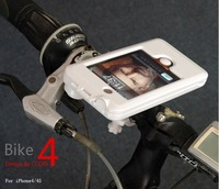 Free shipping 80pcs/lot Bike Bicycle Mount Holder Stand Kit Cradle/ Bike Navigation System For Apple iPhone 4 & 4s
